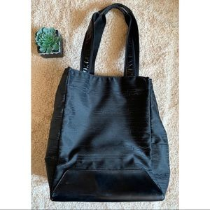 MAC Black Leather Tote